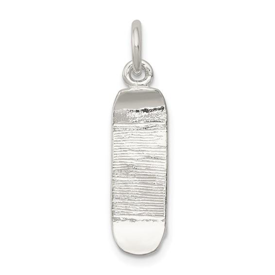 Sterling Silver 3/4in Skateboard Charm