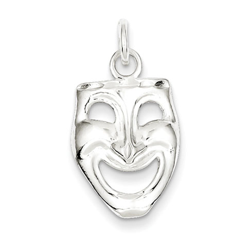 Sterling Silver Comedy Mask Charm