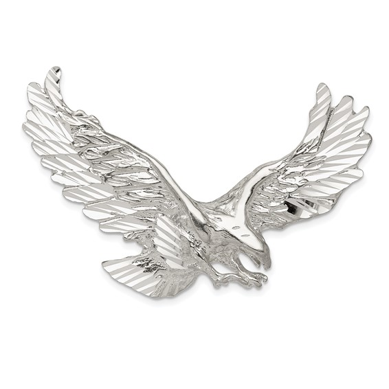Sterling Silver 1 3/8in Outstretched Eagle Pendant