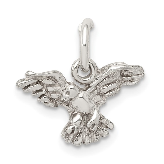 Sterling Silver 7/16in Eagle Charm