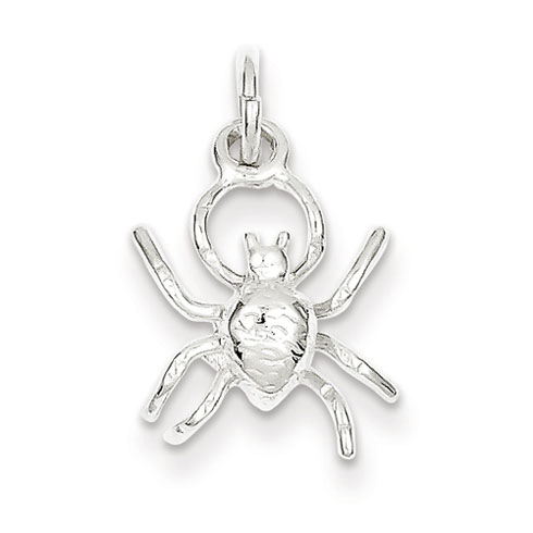 Sterling Silver 1/2in Spider Charm