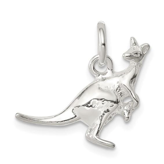 Sterling Silver Kangaroo Charm