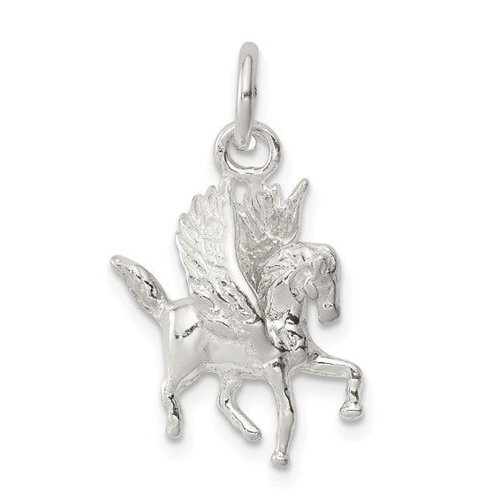 Sterling Silver 5/8in Pegasus Charm