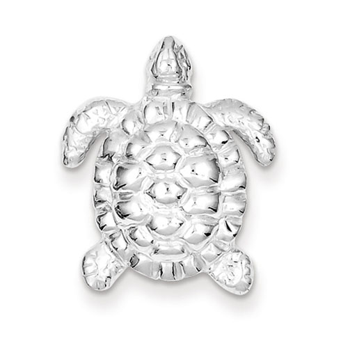 Sterling Silver 7/8in Open Back Turtle Charm