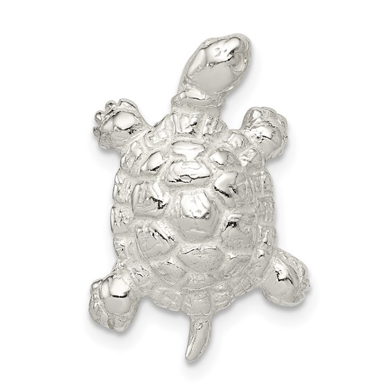 Sterling Silver 7/8in Walking Turtle Charm