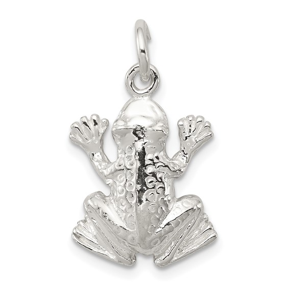 Sterling Silver 11/16in 3-D Frog Charm