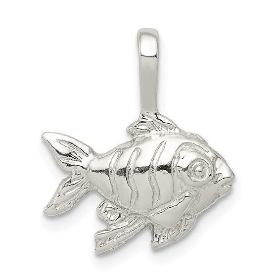 Sterling Silver 7/16in Goldfish Charm