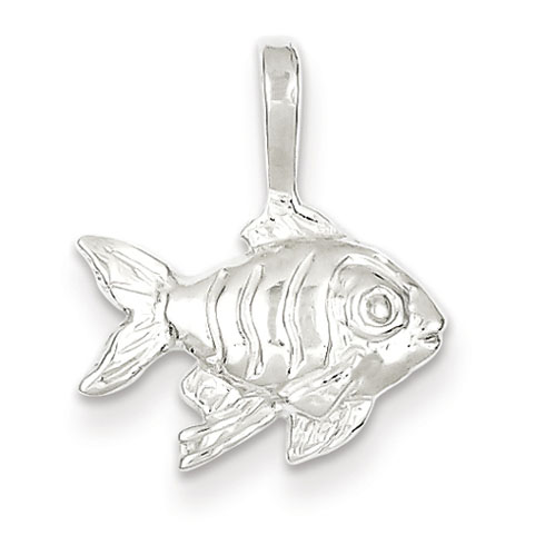 Sterling Silver 7/16in Fish Charm