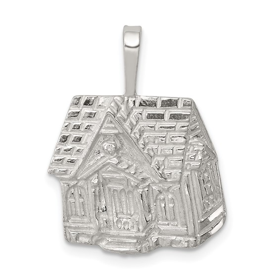 Sterling Silver 5/8in House Charm