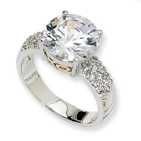 Sterling Silver & Gold-plated X & O CZ Ring