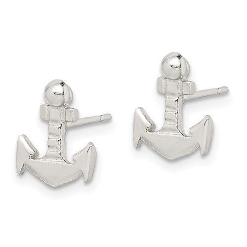 Sterling Silver Anchor Mini Earrings