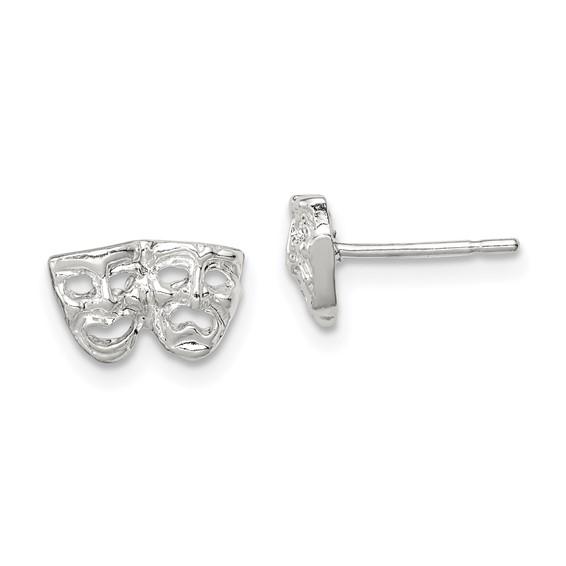 Sterling Silver Comedy Tragedy Mini Earrings