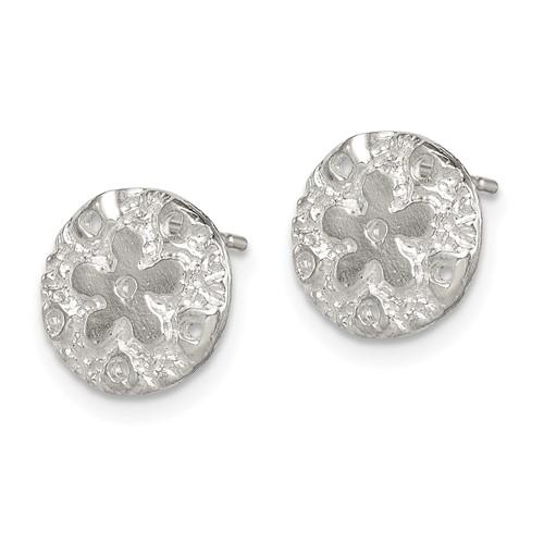 Sterling Silver Sand Dollar Mini Earrings
