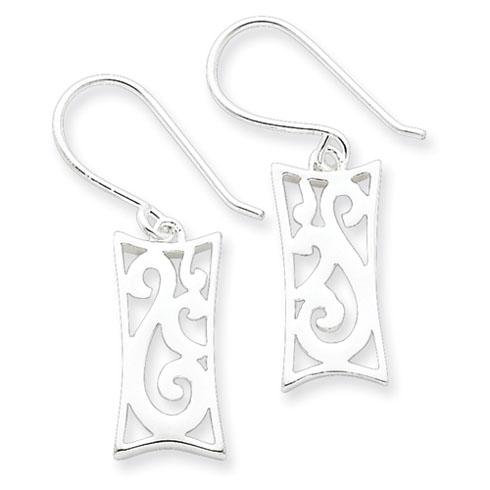 Sterling Silver Polished Fancy Earrings