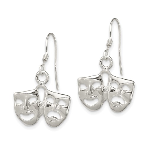 Sterling Silver Comedy Tragedy Earrings