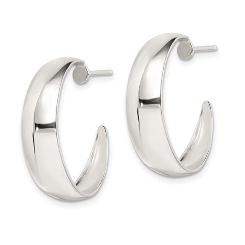 Sterling Silver Fancy Hoop Earrings