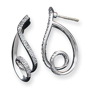 Sterling Silver Fancy CZ Earrings