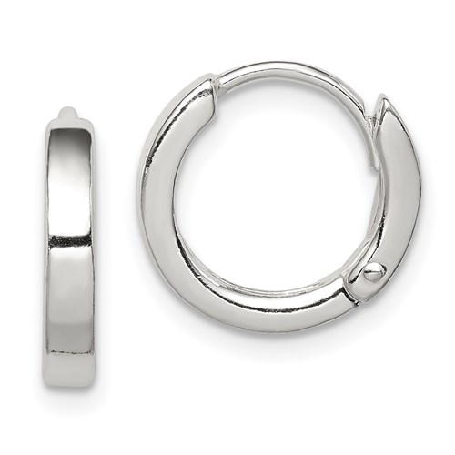 Sterling Silver 1/2in Round Hoop Earrings