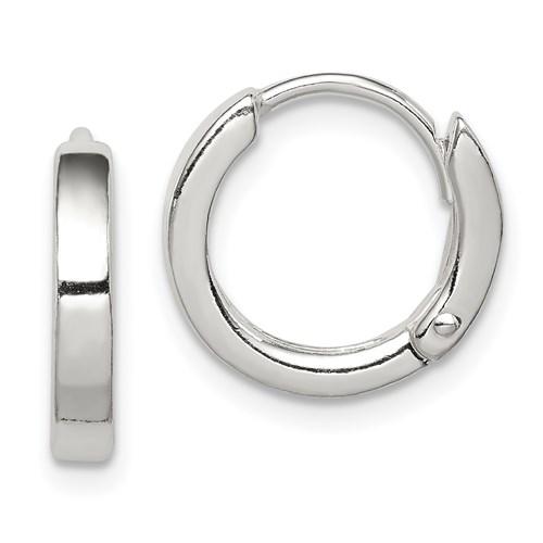 Sterling Silver 1/2in Round Hoop Earrings