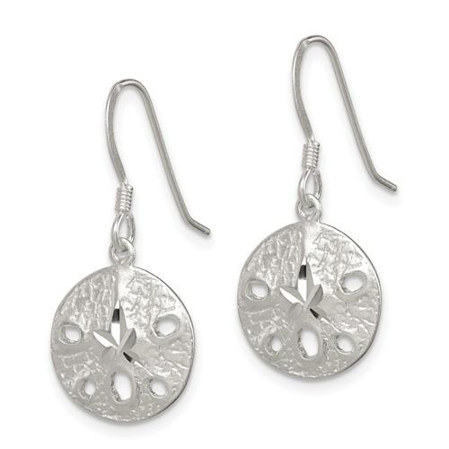 Sterling Silver Sand Dollar Dangle Earrings