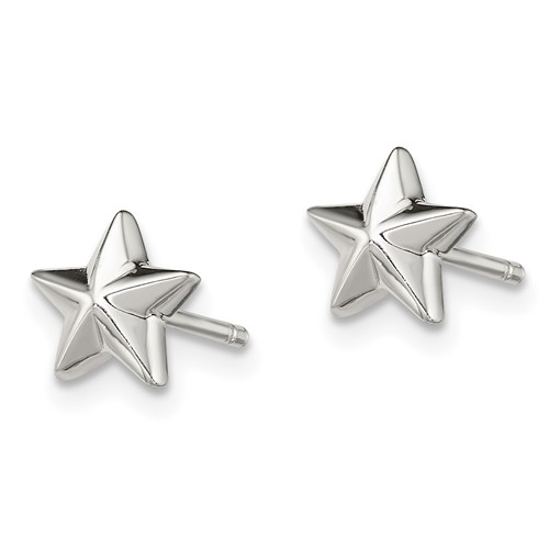 Sterling Silver 1/4in Star Earrings
