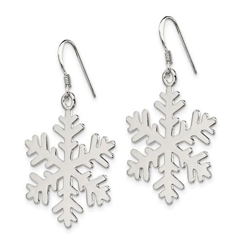 Sterling Silver Snowflake Dangle Earrings