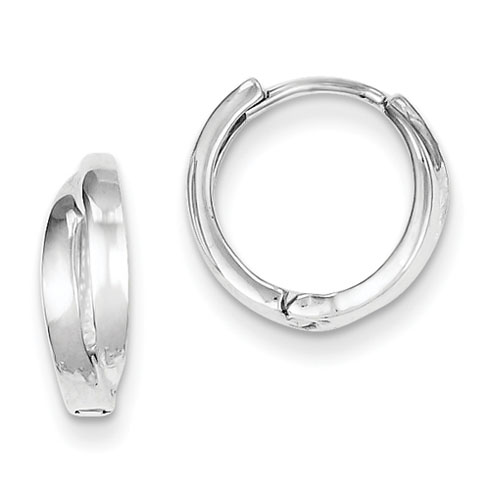 Sterling Silver 1/2in Tapered Huggie Earrings
