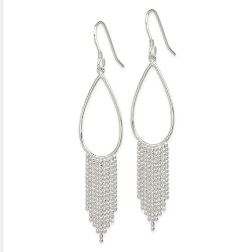 Sterling Silver Fringe Dangle Earrings