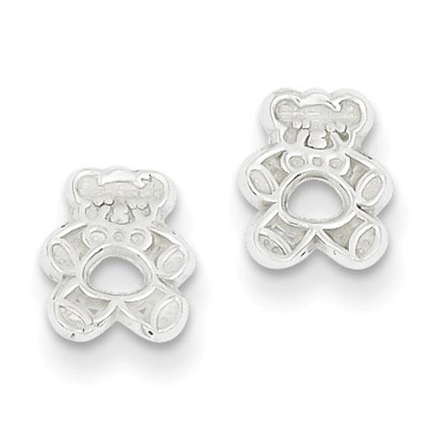 Sterling Silver Teddy Bear Mini Earrings