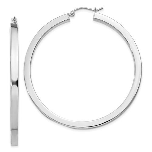 Sterling Silver 2in Hoop Earrings 3.25mm