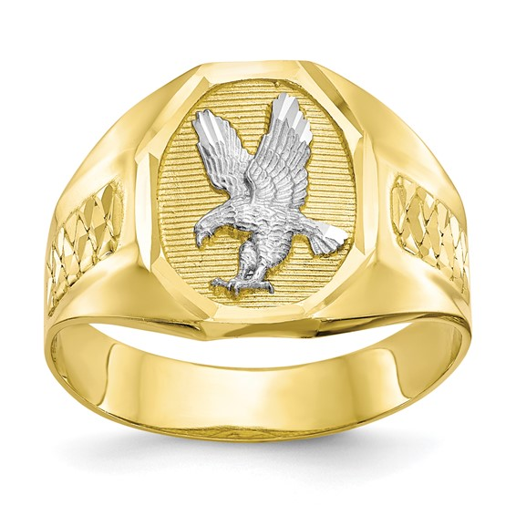 10kt Yellow Gold Men's Eagle Ring