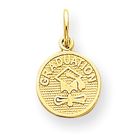 10kt Yellow Gold 3/8in Graduation Charm