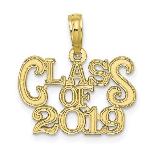 10k Yellow Gold Class of 2019 Graduation Pendant