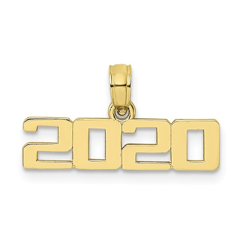 10k Yellow Gold 2019 Graduation Charm in Block Letters