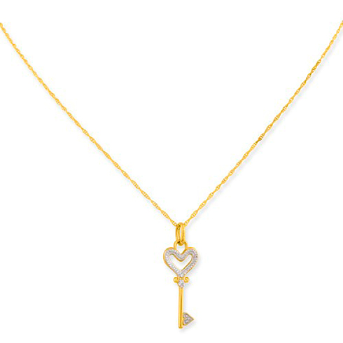 10kt yellow gold key pendant on 18in gold filled chain 10m2655m 10kt yellow gold key pendant on 18in gold filled chain aloadofball Gallery