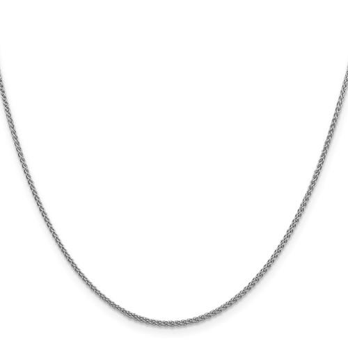 14k White Gold 18in Spiga Chain 1.5mm