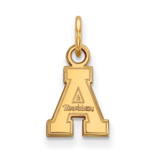 Appalachian State University Charm 3/8in 14k Yellow Gold