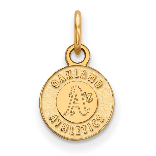 10k Yellow Gold 3/8in Oakland A's Logo Pendant