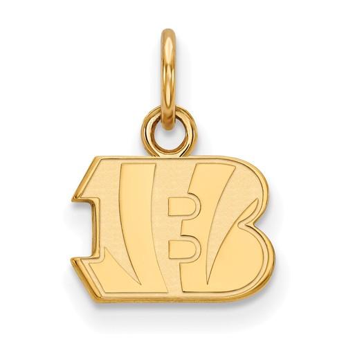 10k Yellow Gold 1/2in Cincinnati Bengals Logo Charm