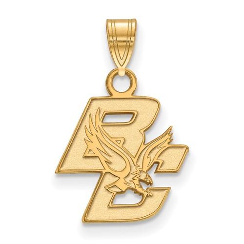 14k Yellow Gold Boston College Logo Charm 1/2in