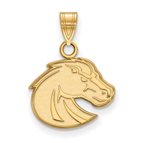 Boise State University Bronco Pendant 1/2in 14k Yellow Gold