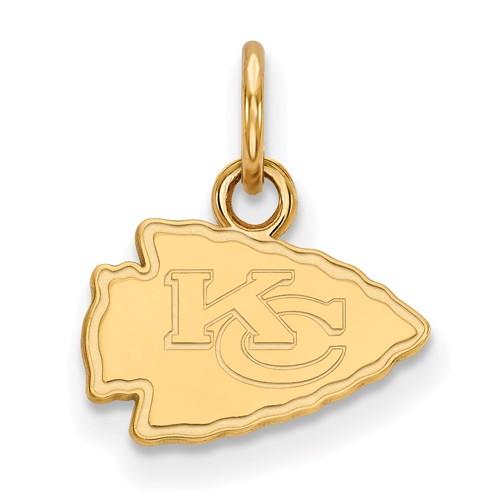 10k Yellow Gold 3/8in Kansas City Chiefs Logo Charm