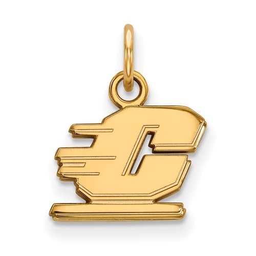 Central Michigan University C Charm 3/8in 10k Yellow Gold