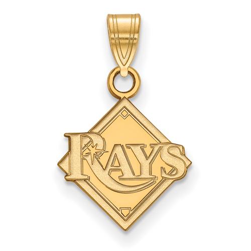 10k Yellow Gold 1/2in Tampa Bay Rays Logo Pendant
