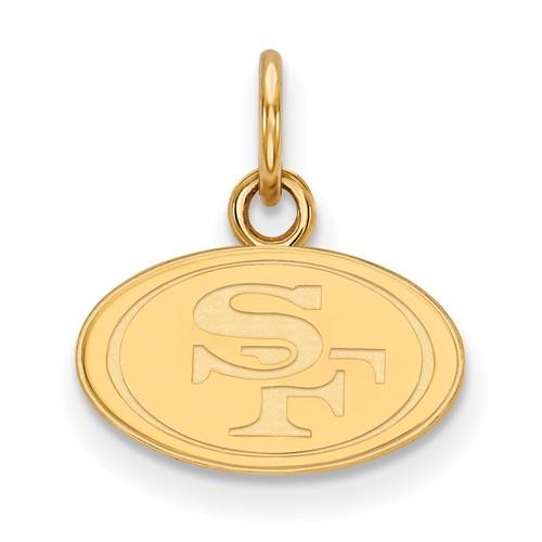 14k Yellow Gold 3/8in San Francisco 49ers Logo Charm