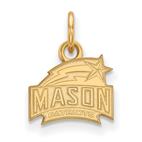 14k Yellow Gold 3/8in George Mason University Logo Charm