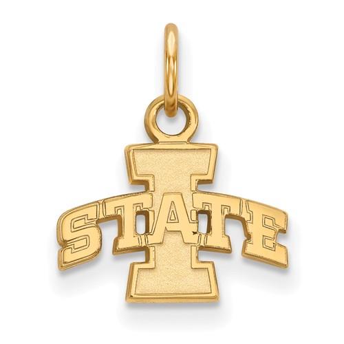 Iowa State University Logo Charm 3/8in 10k Yellow Gold