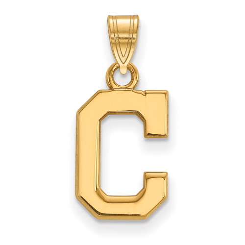 10k Yellow Gold 1/2in Cleveland Indians C Pendant