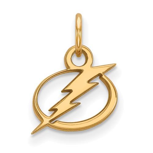 14k Yellow Gold 3/8in Tampa Bay Lightning Logo Charm