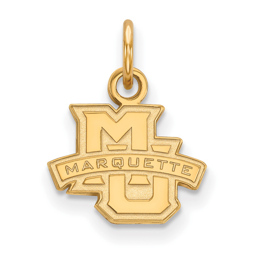 Marquette University Logo Charm 1/2in 14k Yellow Gold